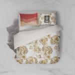 3d Golden Floral Comfortable Bedding Set Bedroom Decor