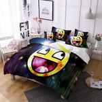 Smiley Face Emoji Printed Bedding Set Bedroom Decor