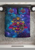 Bee Star Fighter Galaxy Printed Bedding Set Bedroom Decor