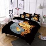Tai Chi Fire In Black Background Bedding Set Bedroom Decor