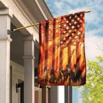American Flag With Horses And The Sunshine Garden Flag House Flag