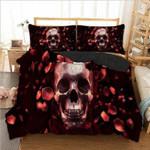 Skull Petal Bedding Set Bedroom Decor