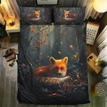 Fox Collection Night Forest Bedding Set Bedroom Decor
