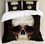 Skull With Sunglasses Bedding Set Bedroom Decor
