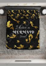 I Have A Mermaid Soul  Bedding Set Bedroom Decor