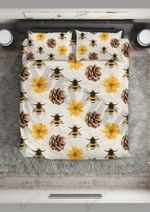 Sunflower And Bee Bedding Set Bedroom Decor