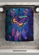 Galaxy Butterfly And Dreamcatcher Printed Bedding Set Bedroom Decor