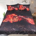 Motorcycle Queen 3D Printed Red And Black Bedding Set Bedroom Decor