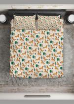Horse Brown Horse Pattern Printed Bedding Set Bedroom Decor