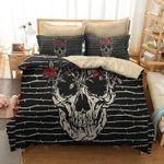 Red Rose With The Death  Bedding Set Bedroom Decor