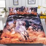 Horses 3D Dusty Lightning Printed Bedding Set Bedroom Decor