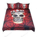 Spider Skull With Queen Crown  Bedding Set Bedroom Decor