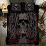 Skull Reggae With Long Hair Printed Bedding Set Bedroom Decor