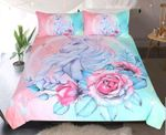 Unicorn Roses Bedding Set Bedroom Decor