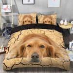 Laying Golden Retriever Giving Dog Lovers Bedding Set Bedroom Decor