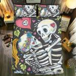 Skull Loving  Bedding Set Bedroom Decor