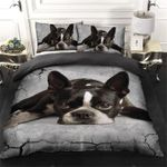 Lovely Laying Boston Terrier Dog  Bedding Set Bedroom Decor