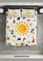 Walking Around The Sun Printed Bedding Set Bedroom Decor