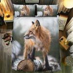 Fox Lonely Winter  Bedding Set Bedroom Decor