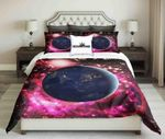 View Of The Planet Earth From Space Design  Bedding Set Bedroom Decor