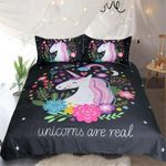 Unicorns Are Real Printed Bedding Set Bedroom Decor