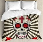 Day Of The Dead Floral Sunburst Bedding Set Bedroom Decor