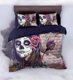Letter For Death Sugar Skull Bedding Set Bedroom Decor