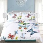 Vibrant Colored Butterflies Printed Bedding Set Bedroom Decor