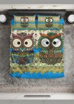 Owl  Big Eyes Couple Bedding Set Bedroom Decor
