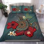 Tartaruga Tribal Colorida Hibiscus Turtle  Bedding Set Bedroom Decor