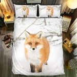 Pretty Fox Winter Bedding Set Bedroom Decor