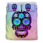 Sugar Skull Multicolor Bedding Set Bedroom Decor