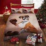 German Shorthaired Dog Boxer Gloves Brindle  Bedding Set Bedroom Decor