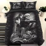 Ride Or Die Skull And Lady Bedding Set Bedroom Decor