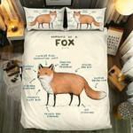 Fox Anatomy Bedding Set Bedroom Decor