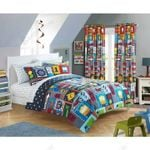 Transportation Bikes Vehicles Roads Highway Bus Traffic Lights  Bedding Set Bedroom Decor