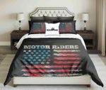 Usa Flag Motor Riders Design  Bedding Set Bedroom Decor