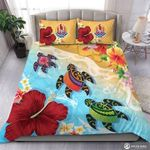 Save The Turtles Sea Flowers Pretty Perfect Printed Bedding Set Bedroom Decor