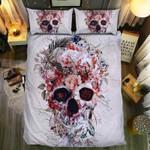 Skull Flower Art  Bedding Set Bedroom Decor