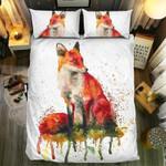 Red Green Yellow Art Fox  Bedding Set Bedroom Decor