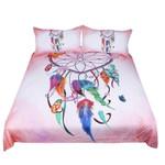 Dreamcather Pink Background Bedding Set Bedroom Decor