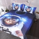 Funny Astronaut Cat Inpace 3D Printed Bedding Set Bedroom Decor