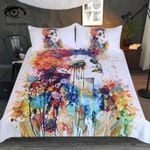 Watercolor Flora By Pixie Cold Art Printed Bedding Set Bedroom Decor