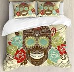 Vintage Smiling Gothic Face  Bedding Set Bedroom Decor