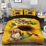 Yorkshire Terrier Is A Small Dog Breed Of Terrier Type Sunflower  Bedding Set Bedroom Decor