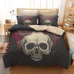 Floral Skull Bedding Set Bedroom Decor