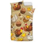 Funny Chicken And Egg Gear Wanta Bedding Set Bedroom Decor