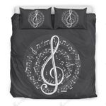Treble Clef Spiral Score Bedding Set Bedroom Decor
