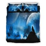 Full Moon Wolf Doona Bedding Set Bedroom Decor