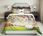 Golf Ball On Evening Cloudy Sky Background Design   Bedding Set Bedroom Decor